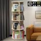 实木旋转书架圆形360度书柜儿童学生转角桌上简易落地创意置物架
