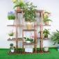 松木花架客厅盆景植物架阳台多功能花盆架多肉绿植收纳大容量花架