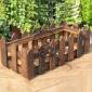 特价厂家直销防腐木栏杆 碳化木栅栏花盆 阳台长方形花槽可定制