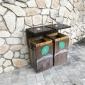 不锈钢仿古垃圾桶 悦达木制品 仿古垃圾桶批发 景区特色果皮箱