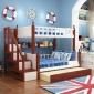 实木儿童床子母床地中海风格高低床儿童卧室家具支持代发货可定制