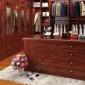 实木复合衣橱 欧式简约整体衣橱柜定做 卧室推拉门烤漆衣柜定制
