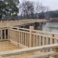 南部防腐木地板 栈道栏杆定制安装 景观木平台 木栈道施工厂家