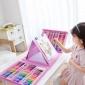 批发儿童画笔176PVC绘画文具套装礼盒粉色蓝色画笔蜡笔水彩笔礼品