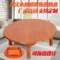 圆形实木折叠桌榻榻米飘窗炕桌家用小户型简约小餐桌朝鲜族饭桌