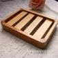 生产直销 实木肥皂盒优质 木制环保皂托 简约凉皂架可沥水香皂盒