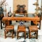 老渔夫船木家具厂直销 老船木茶台椅组合 实木功夫泡茶桌来图定制