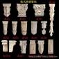 现货批发零售 东阳木雕实木柱头雕花梁托小罗马柱门头装饰配件
