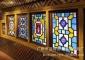 仿古门窗岭南满洲窗实木花格玻璃窗五彩玻璃花窗广东厂家直销定制