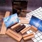 加工定做木底座 台历实木底座桌面便签木支架 照片留言夹名片底