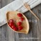 创意树叶形实木盘子 个性点心水果木碟子 酒店专用木餐具