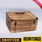 厂家批发复古包角六支装红酒木箱 手提翻盖葡萄酒红酒礼品包装盒